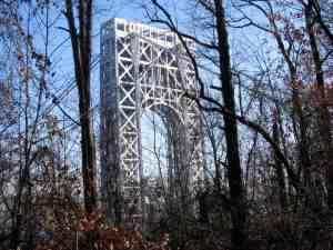 George Washington Bridge on the Jersey side.