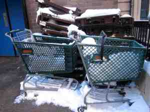 The Lame Adventure method of measuring snowfall in Manhattan.
