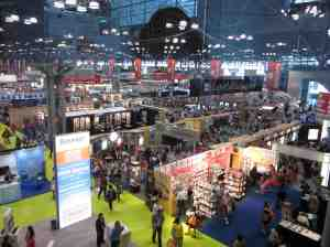 Exhibition hall before it got REALLY crowded.