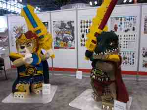 Larger than life Lego sculptures. (respected the rules — only photographed; didn't touch)