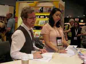 Mat Phelan signing his graphic novel I regret not taking.