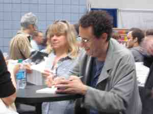 So-so picture of great American writer Tony Kushner.
