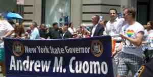 Big cheers for Governor Cuomo!