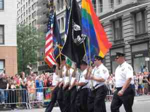 Gay cop color guard.