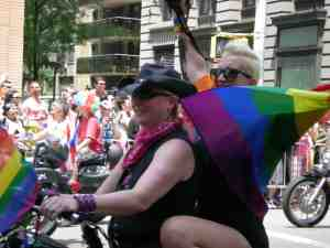 Dykes on bikes kick it off!