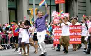 Public Advocate and mayoral candidate Bill De Blasio.