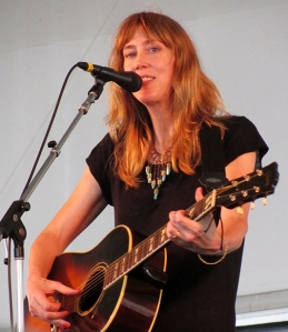Beth Orton playing at Newport.