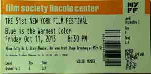 Au revoir 51st New York Film Festival.
