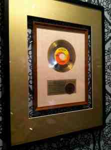"Gold record for ""I Want to Hold Your Hand""."