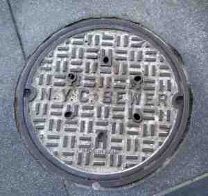 New York City sewer cover made in India.