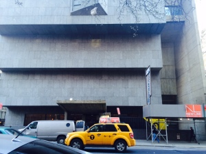 The Whitney's facade resembling upside down steps.