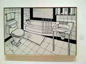 Roy Lichtenstein. Bathroom. 1961.