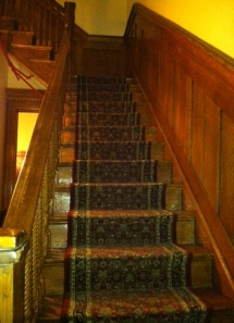 Some of the less than magic carpeted stairs in my sanctum sanctorum.
