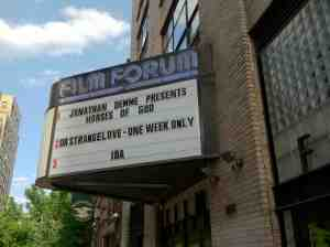 When an event is shown for one screening it doesn't make the marquee.