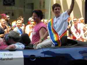 Grand Marshall Rea Carey, Executive Director of the National Gay and Lesbian Task Force