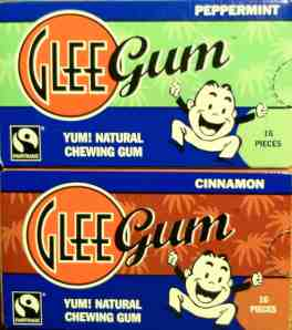 Glee gum with little guy who does not look glum like purchaser.