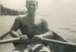 Dad on his honeymoon in 1951.