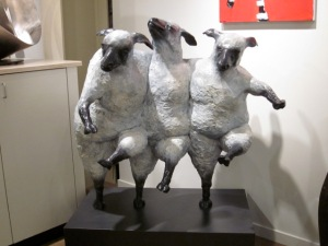 Bonus sculpture: dancing farm animals I happen to like.