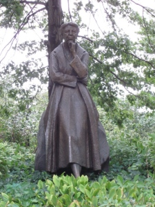 Monument in Riverside Park to humanitarian and first lady Eleanor Roosevelt.