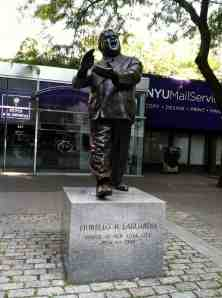 Legendary three term New York City mayor Fiorello LaGuardia at LaGuardia Place in Greenwich Village.