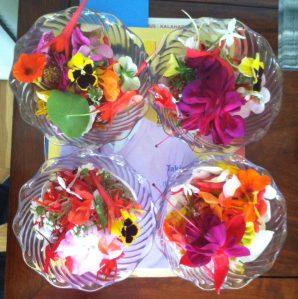 Dad's flower petals.