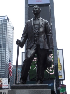 Show biz legend George M. Cohan giving his regards to Broadway.