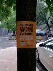 Upper West Side tree doing its part for the Peoples Climate March.