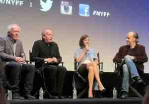 Dardenne Brothers, Marion Cotillard and Kent Jones, NYFF Program Director.