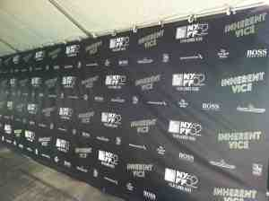 Empty Inherent Vice press tent.