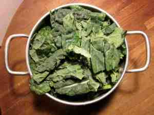 Kale ready for steaming: nowhere to be found at Casa Dovima.