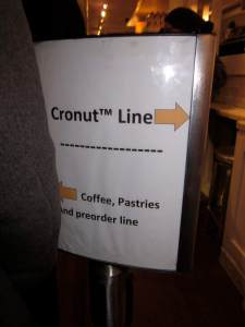 For those who order their Cronuts online, you bypass everyone waiting to buy theirs.