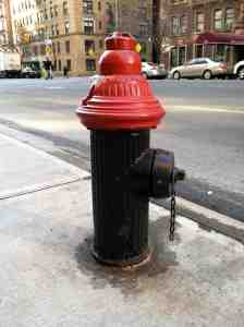 West End Avenue fire hydrant: stylish red head.