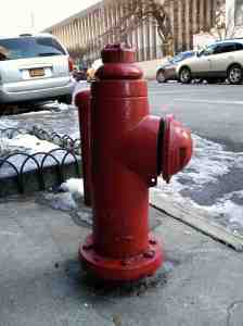 West 70th Street fire hydrant: hipster red.