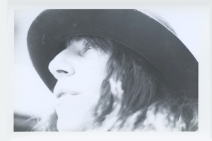Looking up Patti Smith's nose.