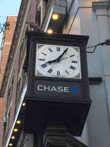 Clock percher.